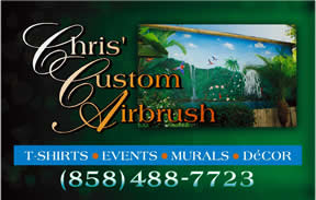 Custom Airbrush by Chris, signage
